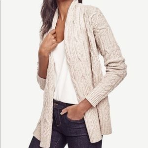 Ann Taylor Cable Open Cardigan